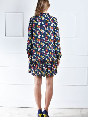 Romantiška dobilų rašto suknelė Detroit catiusha