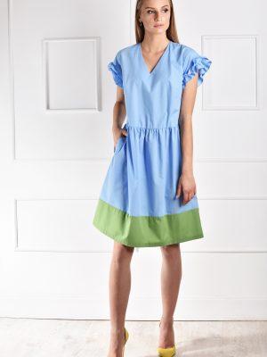 catiusha vasarinė suknelė Lome žydra